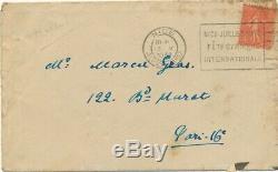 Maurice Maeterlinck belge lettre autographe signée l'Araignée de verre