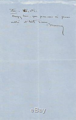 Maurice SAND Lettre autographe signée George SAND théâtre
