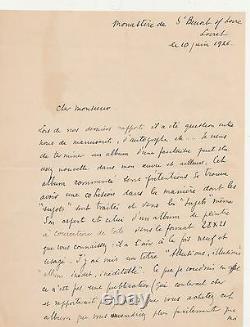 Max JACOB lettre autographe signée livre peinture