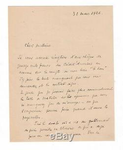 Max Jacob / Lettre Autographe Signée (1926) / Gallimard / Le Nom / Les Pénitents