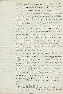 Merlin de Douai Politique lettre signée 1788 jardiner Conseil de Douai