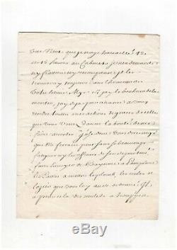 Michel De Chamillart / Lettre Signée / Versailles / 1707 / Louis XIV / Maintenon