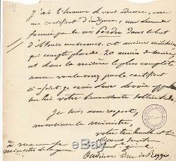 Militaire Maréchal Empire OUDINO duc de Reggio lettre autographe signée ministre