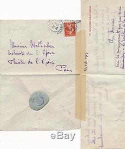 Musique Jacques BIZET fils Georges Bizet lettre autographe signée Halévy