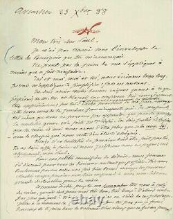 NADAR Lettre autographe signée à son fils Paul. Photographie 1888