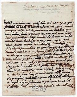 NAPOLÉON Fanny de BEAUHARNAIS Lettre autographe signée s. L. N. D