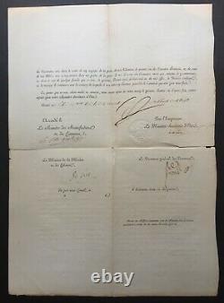 NAPOLÉON IER Document / lettre signée Blocus continental 1813