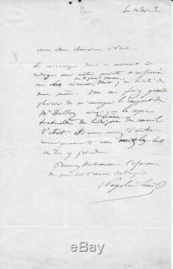 NAPOLEON III Lettre autographe signée