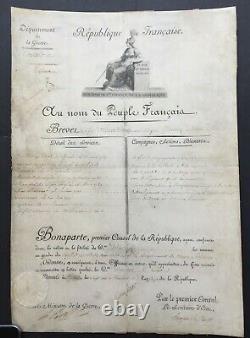 Napoléon BONAPARTE Document / lettre signée Brevet Officier Cavalerie 1803
