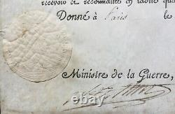 Napoléon Bonaparte Document / lettre signée Général Dejean Aide camp Empereur