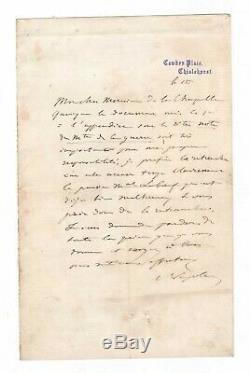 Napoléon III / Lettre Autographe Signée (1871) / Marechal Leboeuf / Guerre