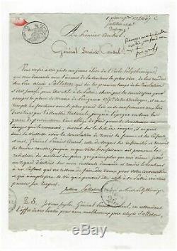 Napoléon / Lettre Signée Bonaparte / Consulat / Au Sujet D'un Père Émigré