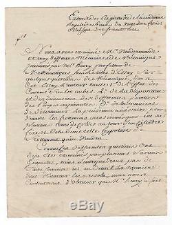 Nicolas De Condorcet / Lettre Signée (1777) / Académie Des Sciences