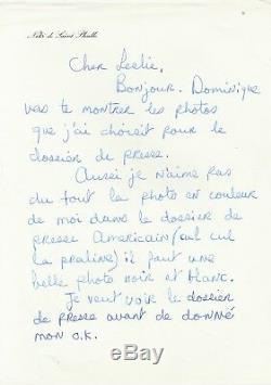 Niki de SAINT-PHALLE Lettre autographe signée sur le lancement de son parfum