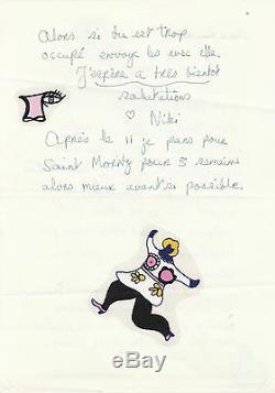 Niki de SAINT PHALLE Lettre autographe signée sur son nouveau parfum