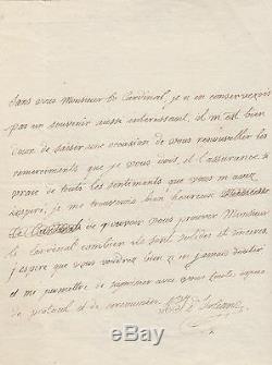 PHILIPPE EGALITE lettre autographe signée cousin du roi Louis XVI vota sa mort