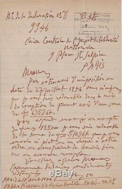 PICASSO lettre autographe signée RARE 1946