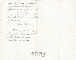 PRINCE IMPERIAL, LETTRE AUTOGRAPHE SIGNEE à Maréchale (1871, Camden Place, TB)