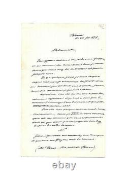 PRINCE IMPÉRIAL Louis-Napoléon Bonaparte / Lettre autographe signée / Honneur