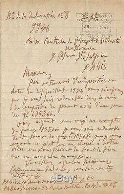 Pablo PICASSO Lettre autographe signée 1946