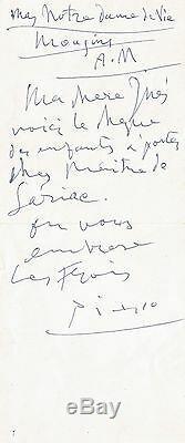 Pablo PICASSO Lettre autographe signée à Inès Sassier
