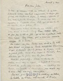 Pagnol Lettre Autographe Signée À Un Ami Denfance 1925