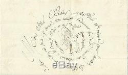 Paul De Kock (1793-1871). Romancier, Librettiste. Lettre. Autographe Signee 1849