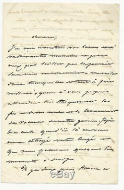 Paul Delaroche (1797-1856) Peintre Français. Lettre Autographe Signée J465