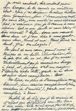 Paul ELUARD / Lettre autographe signée à G. Hugnet / PICASSO, La Chèvre feuille