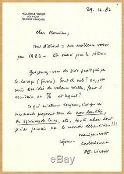Paul-Émile Victor (1907-1995) Explorateur polaire Lettre autographe signée
