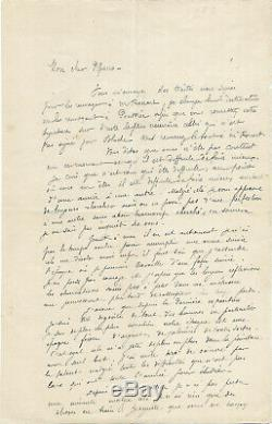 Paul GAUGUIN / Lettre autographe signée à Camille Pissarro / Exposition / Renoir