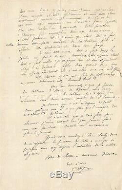 Paul GAUGUIN Lettre autographe signée à PISSARRO. La peinture et RENOIR. 1882