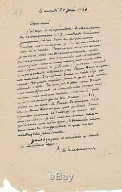 Paul LÉAUTAUD lettre autographe signée Crapouillot Dictionnaire des contemporain