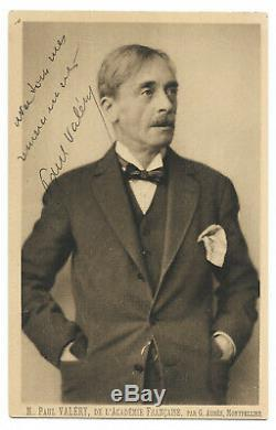 Paul VALERY / Lettre autographe signée / Académie / Carte postale signée jointe