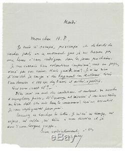 Paul VALÉRY / Lettre autographe signée / Mallarmé / Poésie