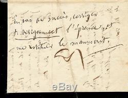 Paul VERLAINE Lettre autographe signée. La publication de ses vers. Août 1868