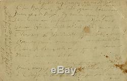 Paul VERLAINE. Lettre autographe signée à Henry Carton de Wiart