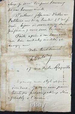 Paul VERLAINE Rare lettre autographe signée à George Courteline