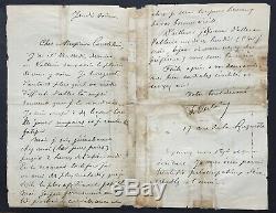 Paul VERLAINE Rare lettre autographe signée à George Courteline 2 1/2 PAGES