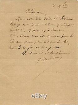 Paul VERLAINE lettre autographe signée