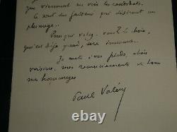 Paul Valery Humoristique Lettre Autographe Signee Adressee A Sa Voisine