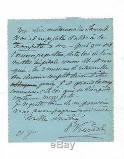 Pauline Viardot / Lettre Autographe Signée / Le Roi Qui Se Désespère