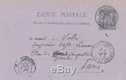 Peintre Jules Breton lettre autographe signé calibrage livre composition Lemerre