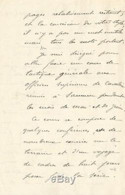 Philippe PETAIN. Lettre autographe signée au Général Bonnal