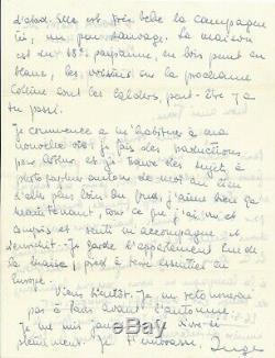 Photographie Inge MORATH lettre autographe signée sujets photographiques Miller