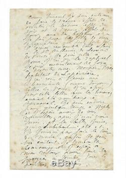 Pierre-Auguste RENOIR / Lettre autographe signée / Sur sa technique de peinture