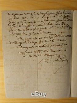 Pierre-Joseph Proudhon Lettre autographe signée au citoyen Rolland