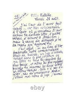 Pierre LOUS / Lettre autographe signée / La Joconde / Adultère / d'Annunzio