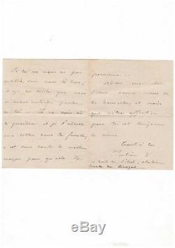 Pierre Loti / Lettre Autographe Signée / Rochefort / 17 Aout 1873