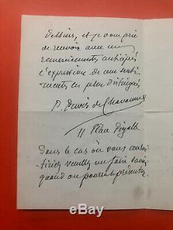 Pierre PUVIS de CHAVANNES Lettre autographe signée